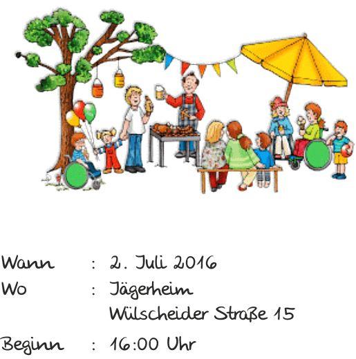 Wulscheider Sommerfest 2016 Einladung